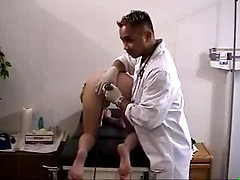 Naked amateur wife checked by gyno doc on hidden camera