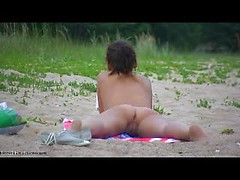 Nasty beach pussy exposed on public opened for best nude beach porn